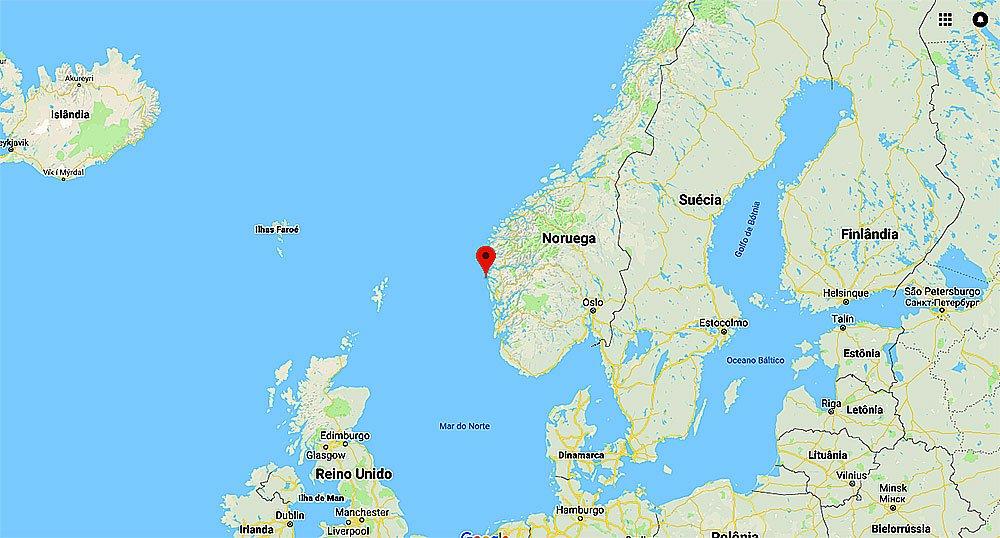 imagem de mapa do litoral da noruega