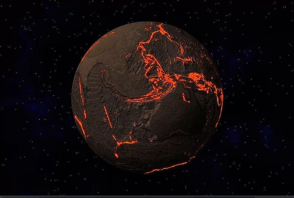 imagem da terra e suas placas tectônicas