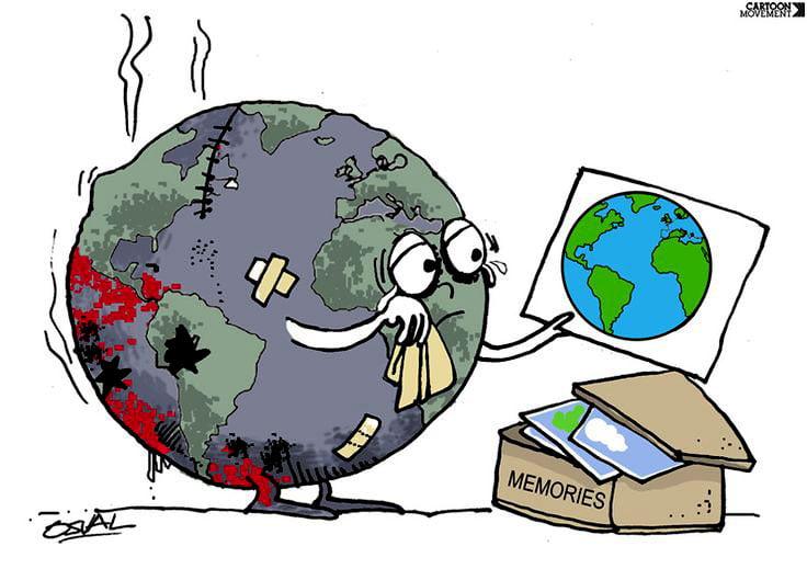 ilustração que remete ao meio ambiente