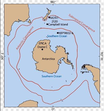 Mapa da ilha campbell onde foi registrada uma Onda monstruosa