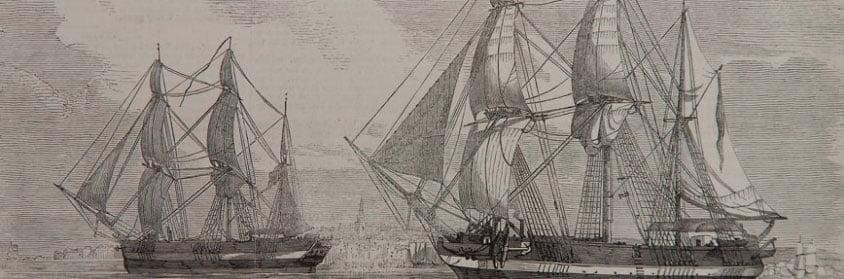 imagem dos navios da expedição de Franklin