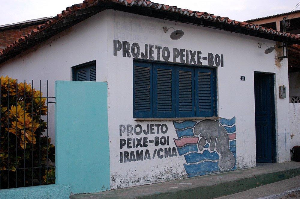 imagem da sede do Projeto peixe- boi em cajueiro da Praia, Piauí