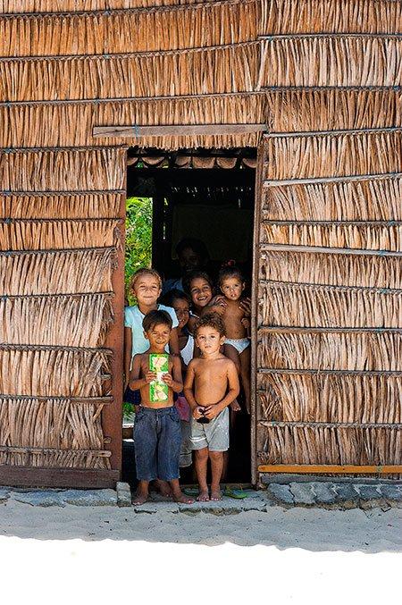 imagem de Crianças de uma família de Fleixeiras.