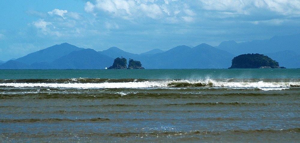 imagem de Vistão a partir da praia da Fazenda.