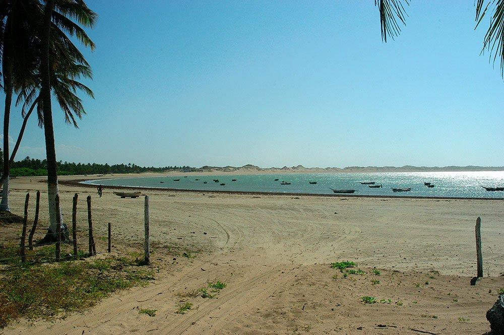 imagem da praia de Icaraizinho de Amontada, ceará