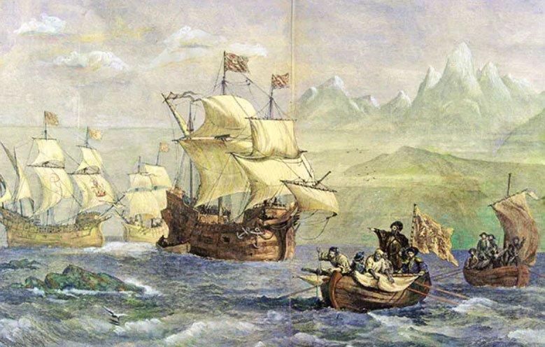 imagem do quadro A descoberta do Estreito de Magalhães
