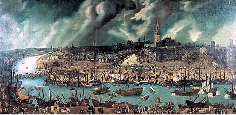 quadro Porto de Sevilha