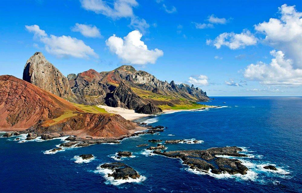 imagem da ilha de Trindade, do arquipélago de Trindade e Martim Vaz