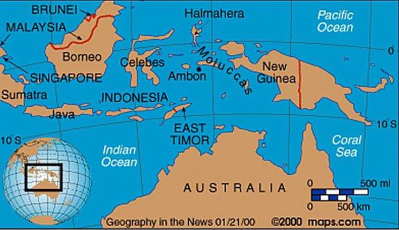 mapa do oceano índico
