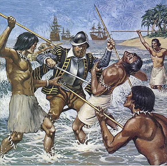 ilustração da arte de Fernão de Magalhães