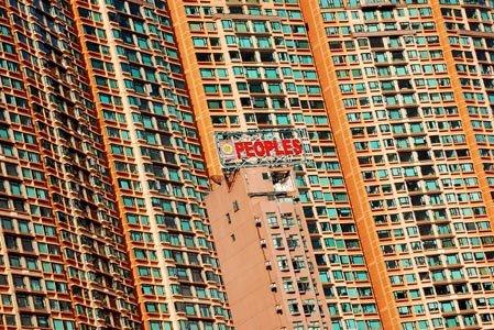 imagem de prédios sugerindo a superpopulação