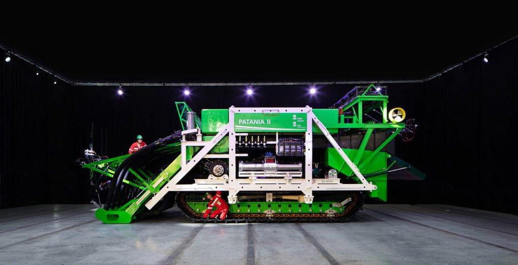 imagem da máquina de mineração submarina Patania II