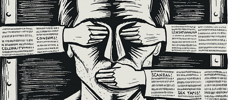 ilustração dos anos de chumbo, da censura