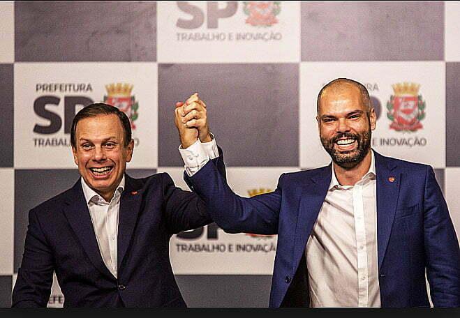 imagem de João Doria Jr. e Bruno Covas