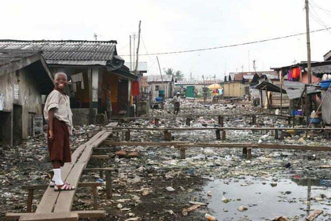 imagem de cidades flutuantes de Lagos, Nigéria