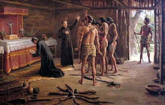 quadro de Benedito calixto mostrando Nóbrega e Anchieta