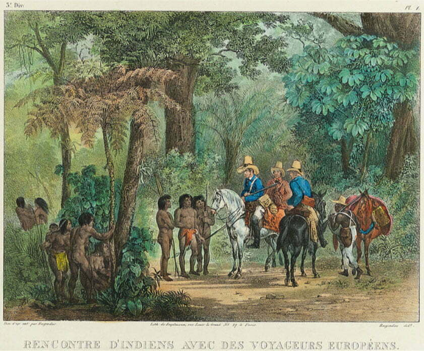 imagem de pintura de Rugendas mostrando o sertão do Brasil