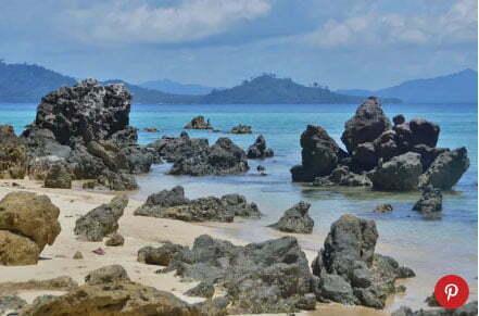 imagem de praia na Tailândia