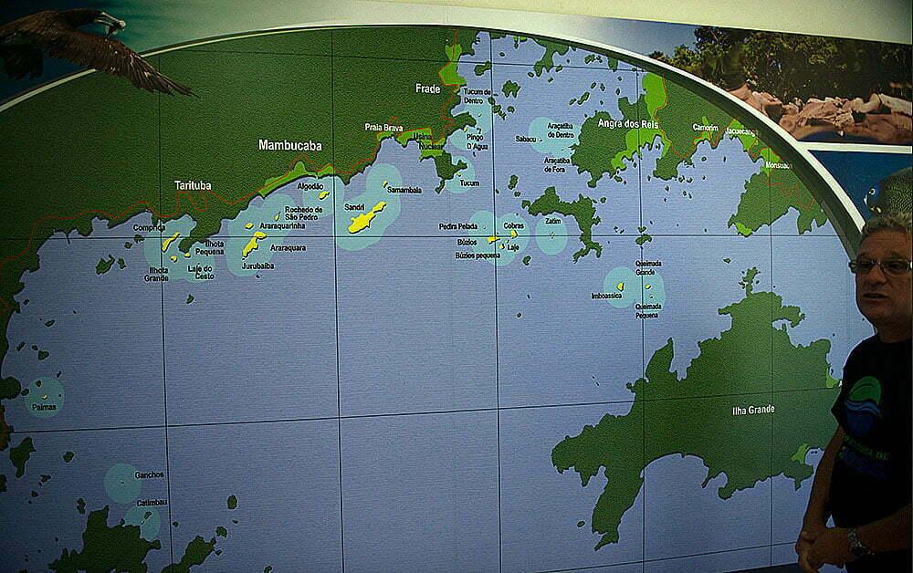 mapa da baía de ilha grande onde jair bolsonaro foi pego pescando