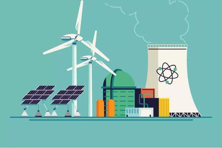 Ilustração de energia nuclear