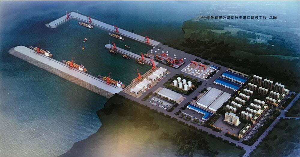 imgem de Terminal pesqueiro chinês no Uruguai