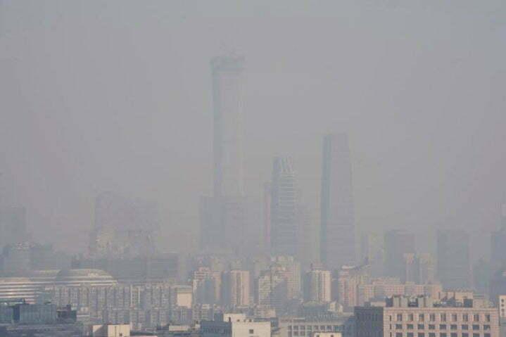 imagem de Poluição nos centros urbanos chineses.