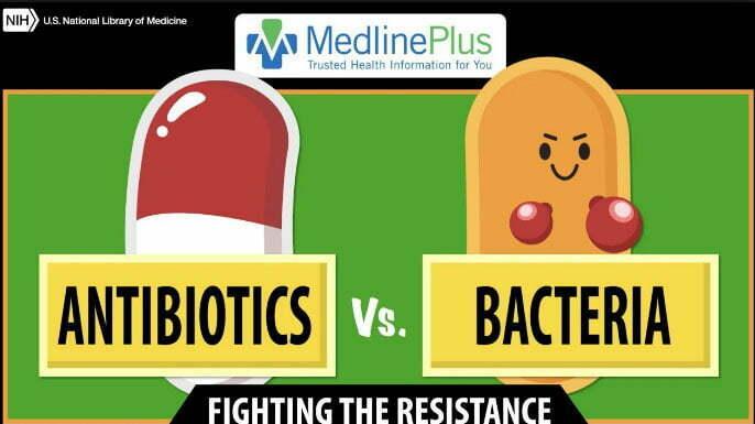 ilustração de antibiótico versus residência das bastérias