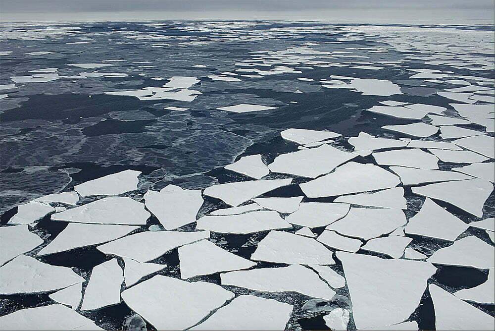 imagem de gelo fragmentado ártico