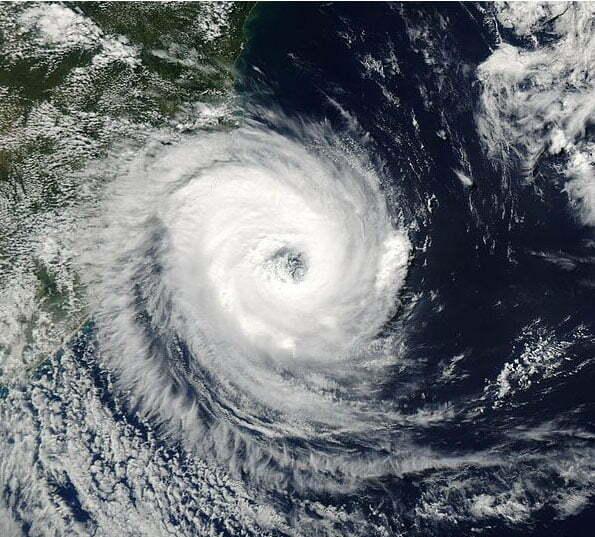 imagem do ciclone catarina