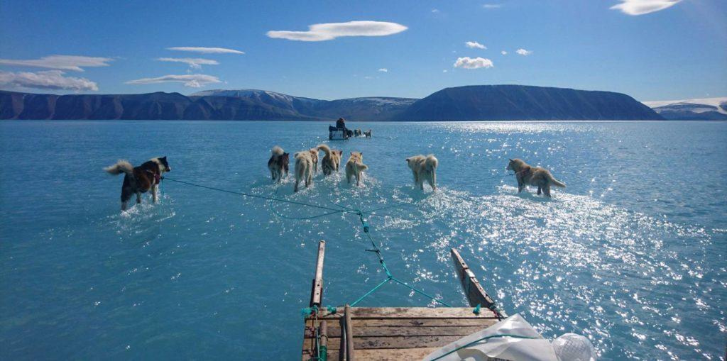 Imagem do degelo na Groenlândia