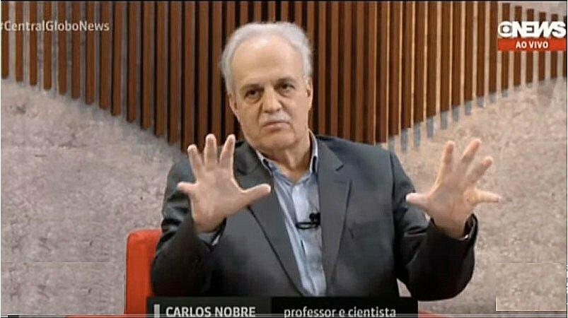 imagem de carlos nobre em programa sobre a Amazônia
