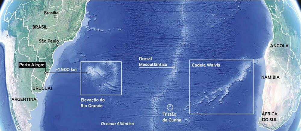 mapa da elevação do Rio Grande