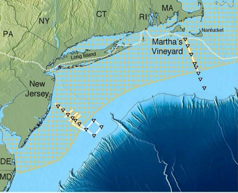 ilustração de aquífero no atlântico norte