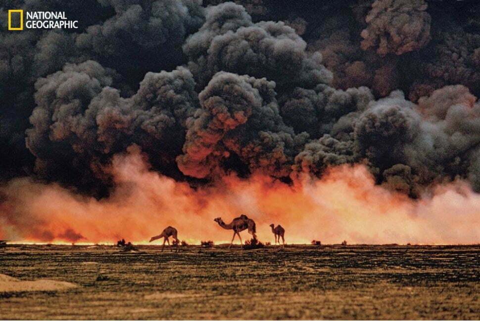 imagem de fogo no deserto