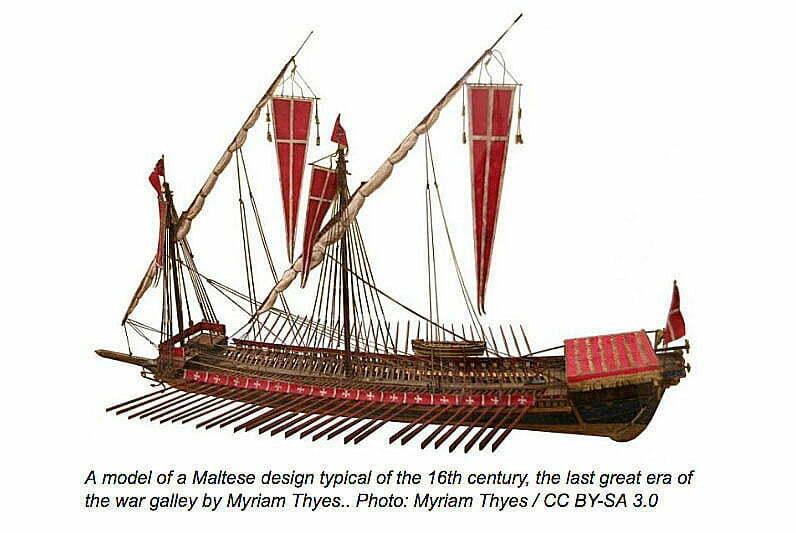 desenho de galera de malta ao tempo das guerras do império otomano