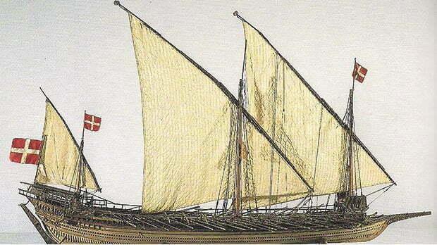 desenho de galera maltesa ao tempo da batalha de lepanto