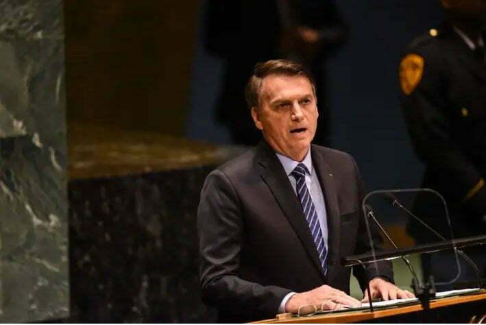 imagem do discurso ambiental de Bolsonaro na ONU