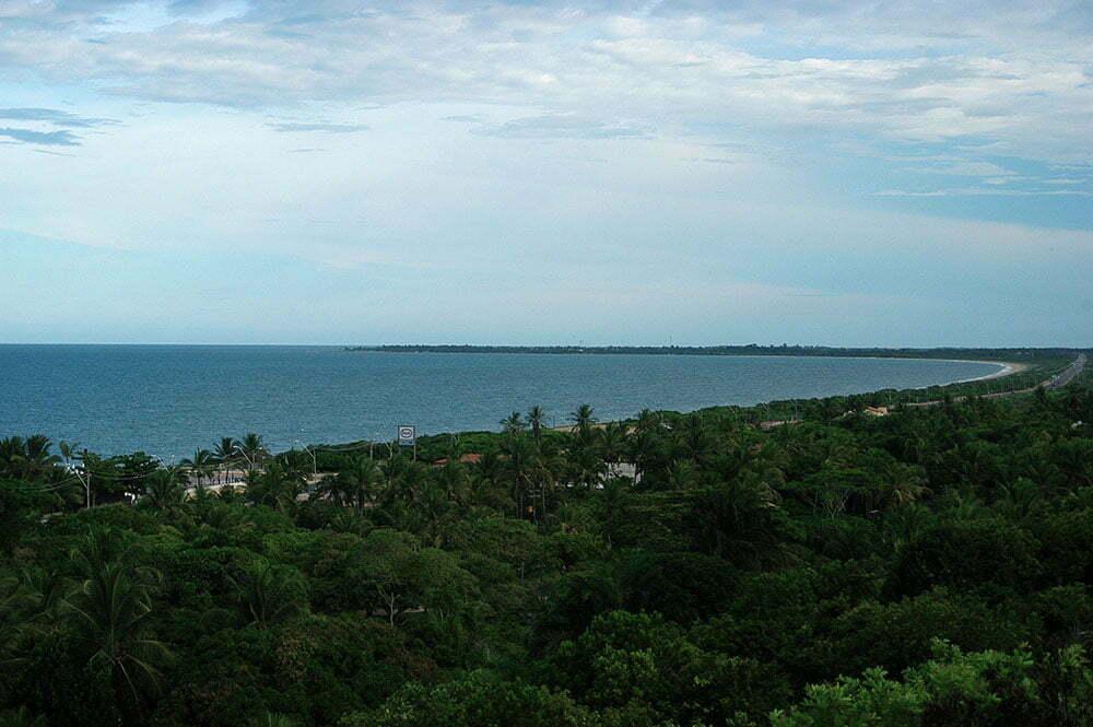 imagem da baía de Cabrália.