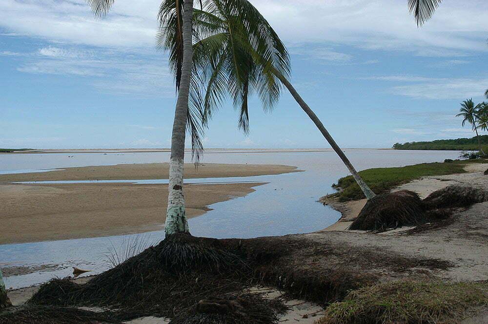 imagem da antiga barra do rio Jequitinhonha