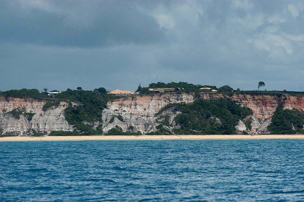 imagem de falésias em Porto Seguro