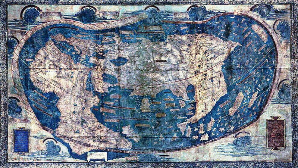 imagem do mapa de Henricus Martellus, 1491