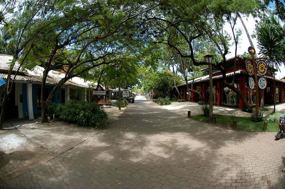 imagem da urbanização da praia do Forte.