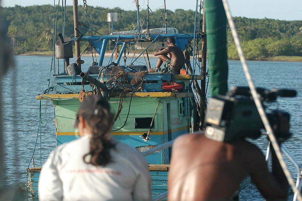 barcos de pesca em Canasvieiras