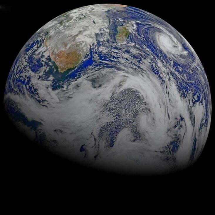 imagem da Terra vista do espaço
