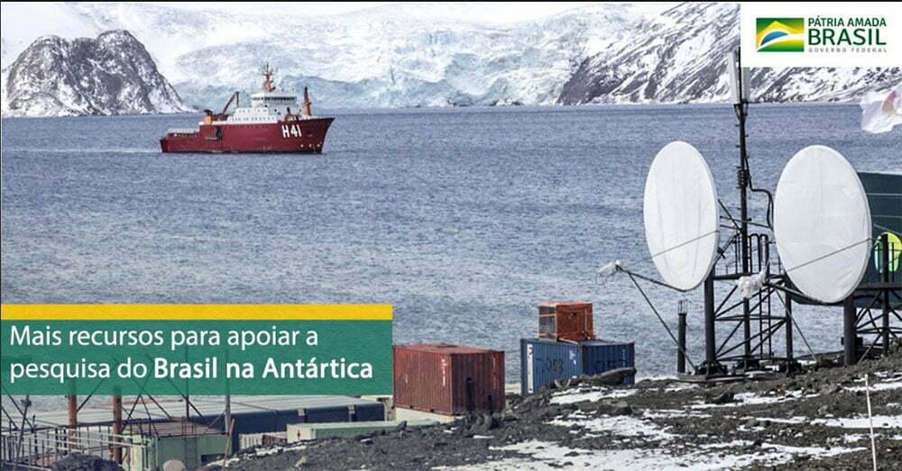 imagem do local onde fica a nova base brasileira na antártica