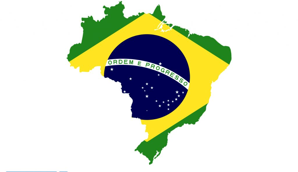 ilustração de bandeira brasileira desfigurada na região da Amazônia e litoral do nordeste