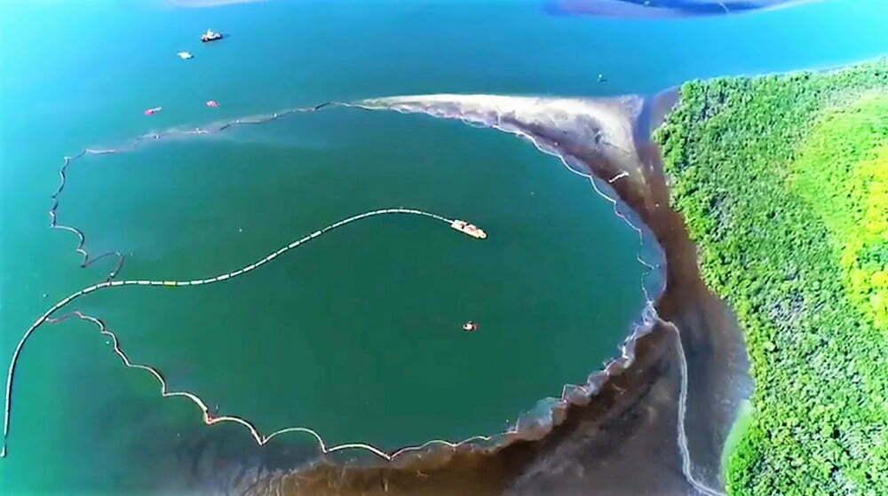 imagem da cava subaquática de Santos