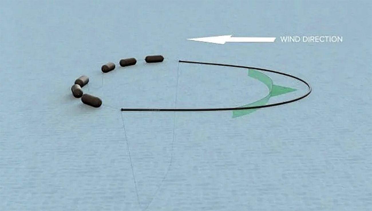 ilustração de dispositivo para limpar o mar