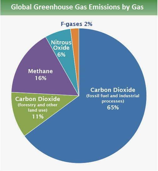 infografia mostra emissões por tipo de geas