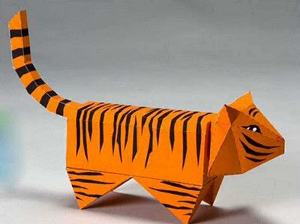 ilustração de tigre de papel